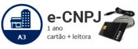 E-CNPJ A3 DE 1 ANO EM CARTÃO + LEITORA