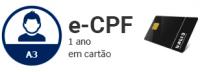 E-CPF-A3 DE 1 ANO EM CARTÃO