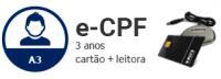 E-CPF - A3 de 3 anos em cartão + leitor